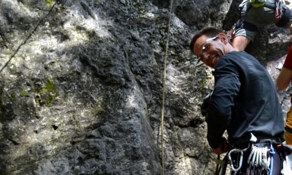 Kompetenz im Personal Training, auch am Fels.